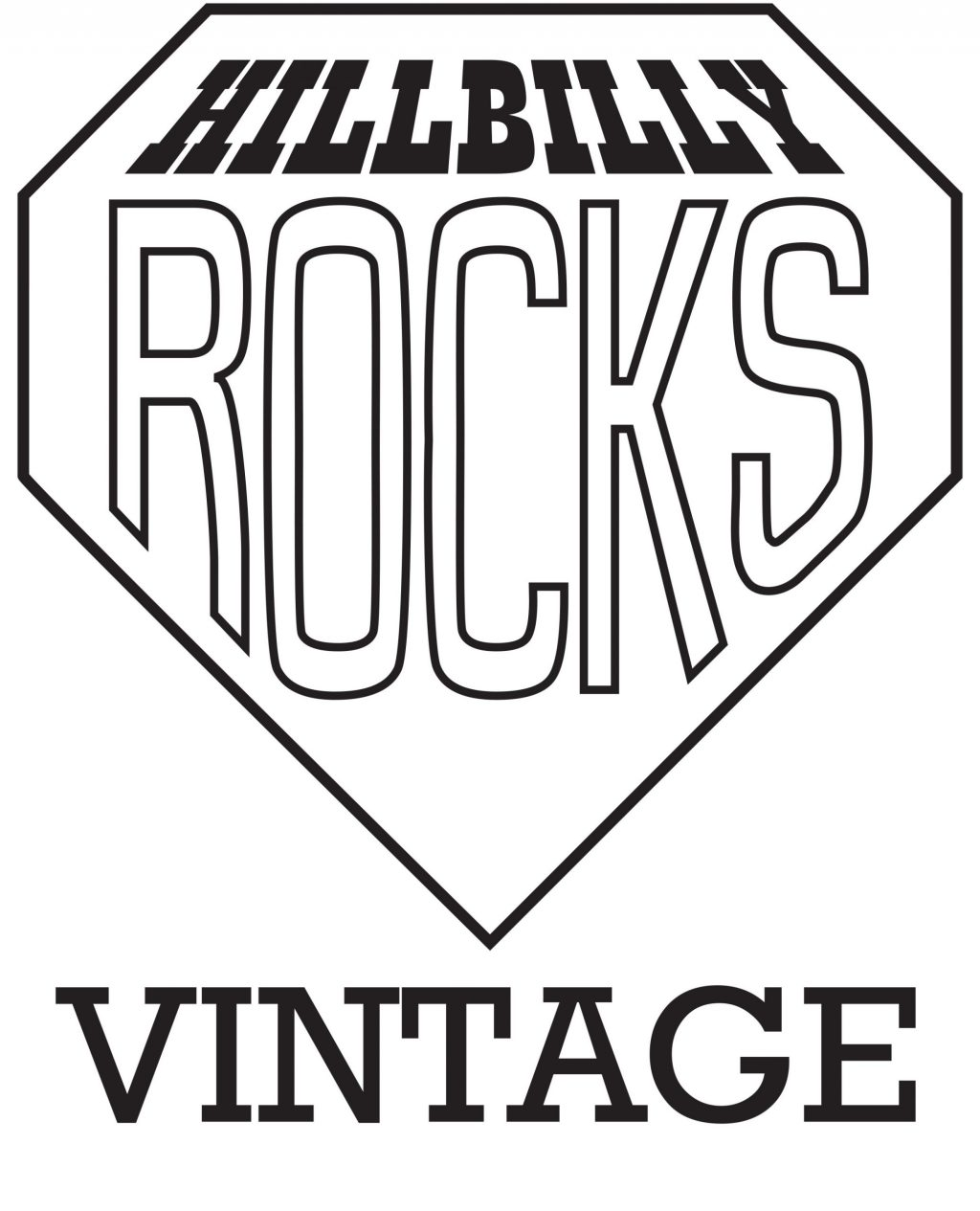 Hillbilly Rocks Vintage clothes shop logo