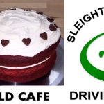Homefield Cafe & Sleight Valley Golf cake & logo