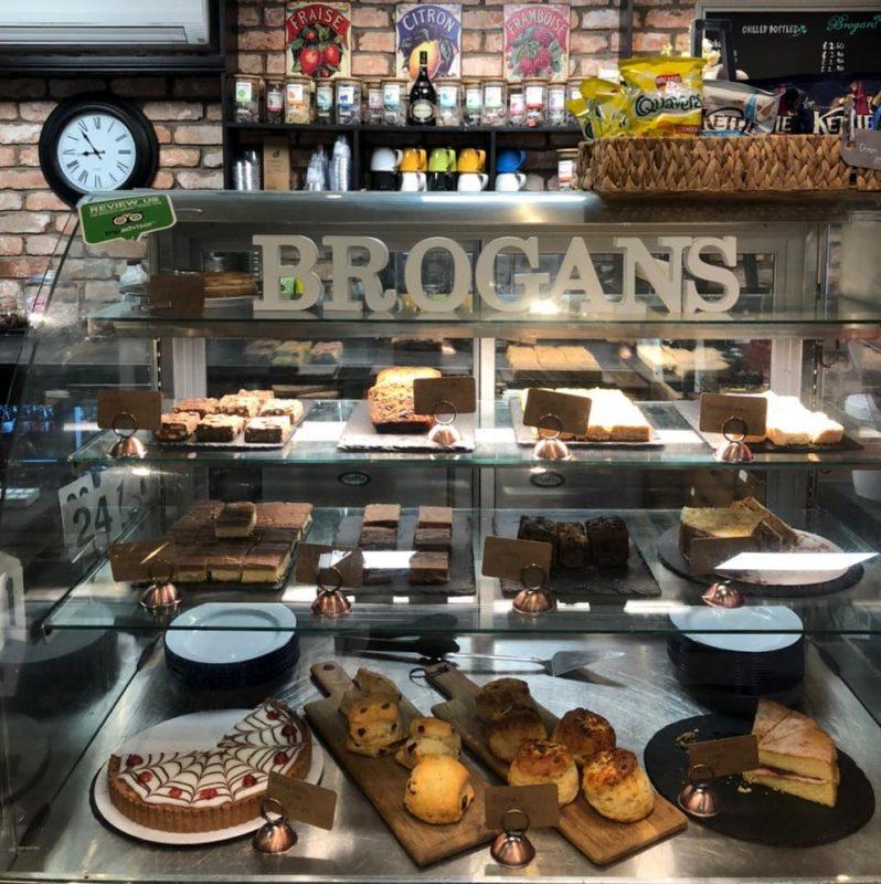 Brogans Cafe - cakes on display