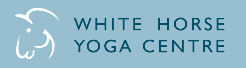 White Horse Yoga Centre logo with horse's head