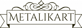 Metalikart decorateive logo
