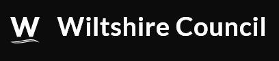 Wiltshire council logo - white on black