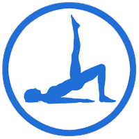 Core control pilates logos - woman in pose