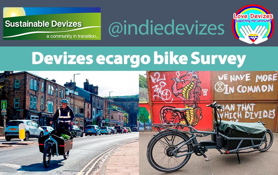 Devizes ecargo bike survey from sustainable devizes, love devizes & indiedevize. Images of cargodale bike (copyrght cargodale)