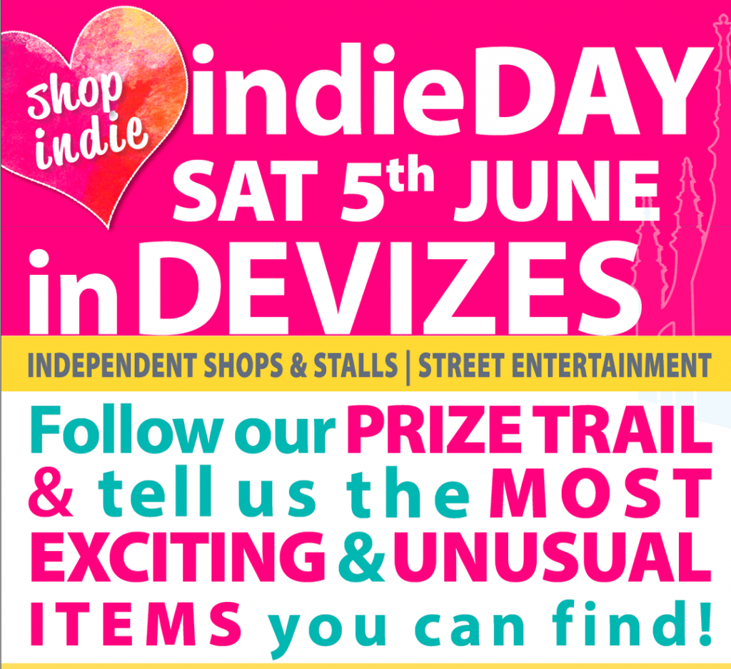 indieDAY poster ~ Saturday 5th June - follow prize trail